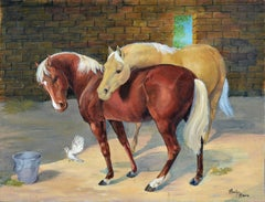 Two Horses on the Ranch