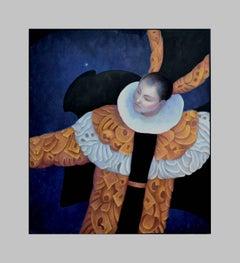 Woman and Stars Mystical Figurative