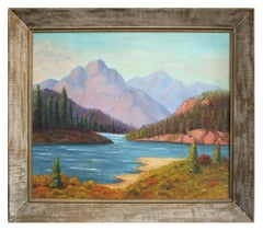 California Lakeside Mountain Landscape