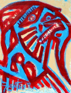 Red and Blue Figurative