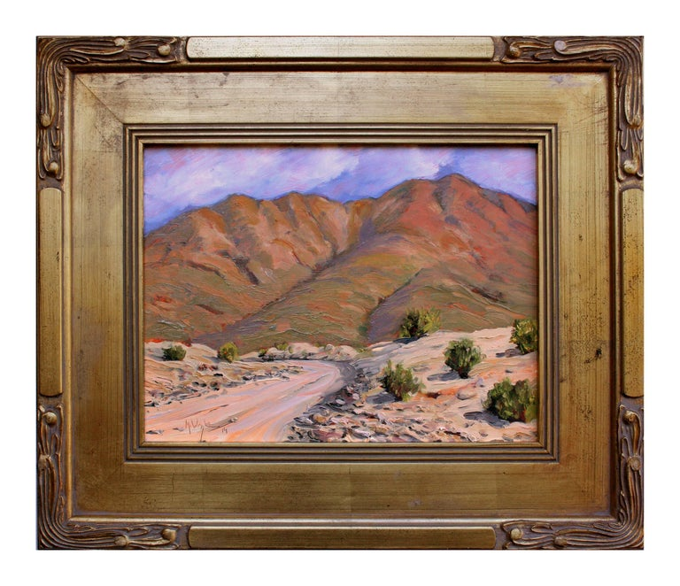 Mike Wright Landscape Painting - Road to Death Valley
