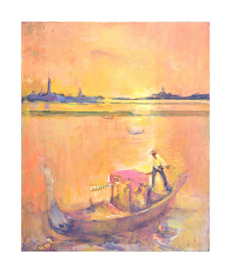 Golden Gondola in Venice
