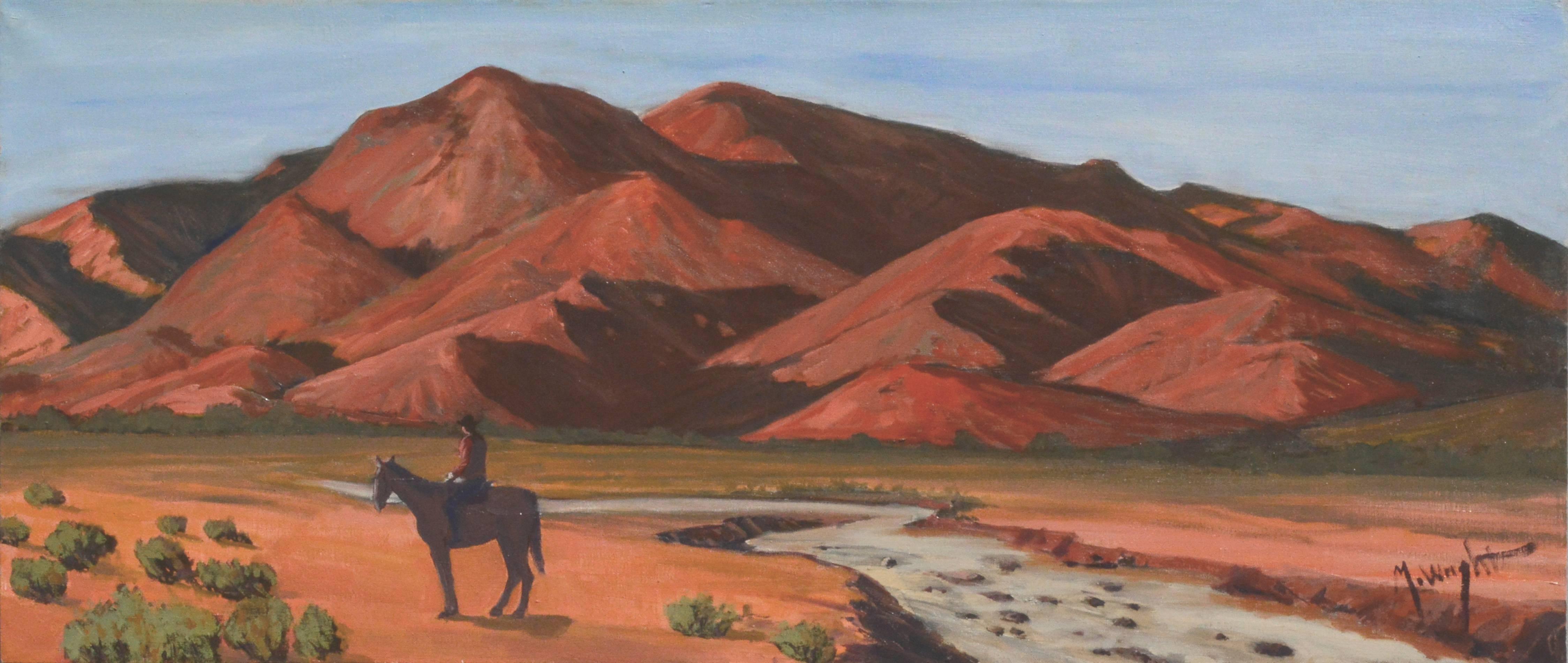 Man on Horse in Desert