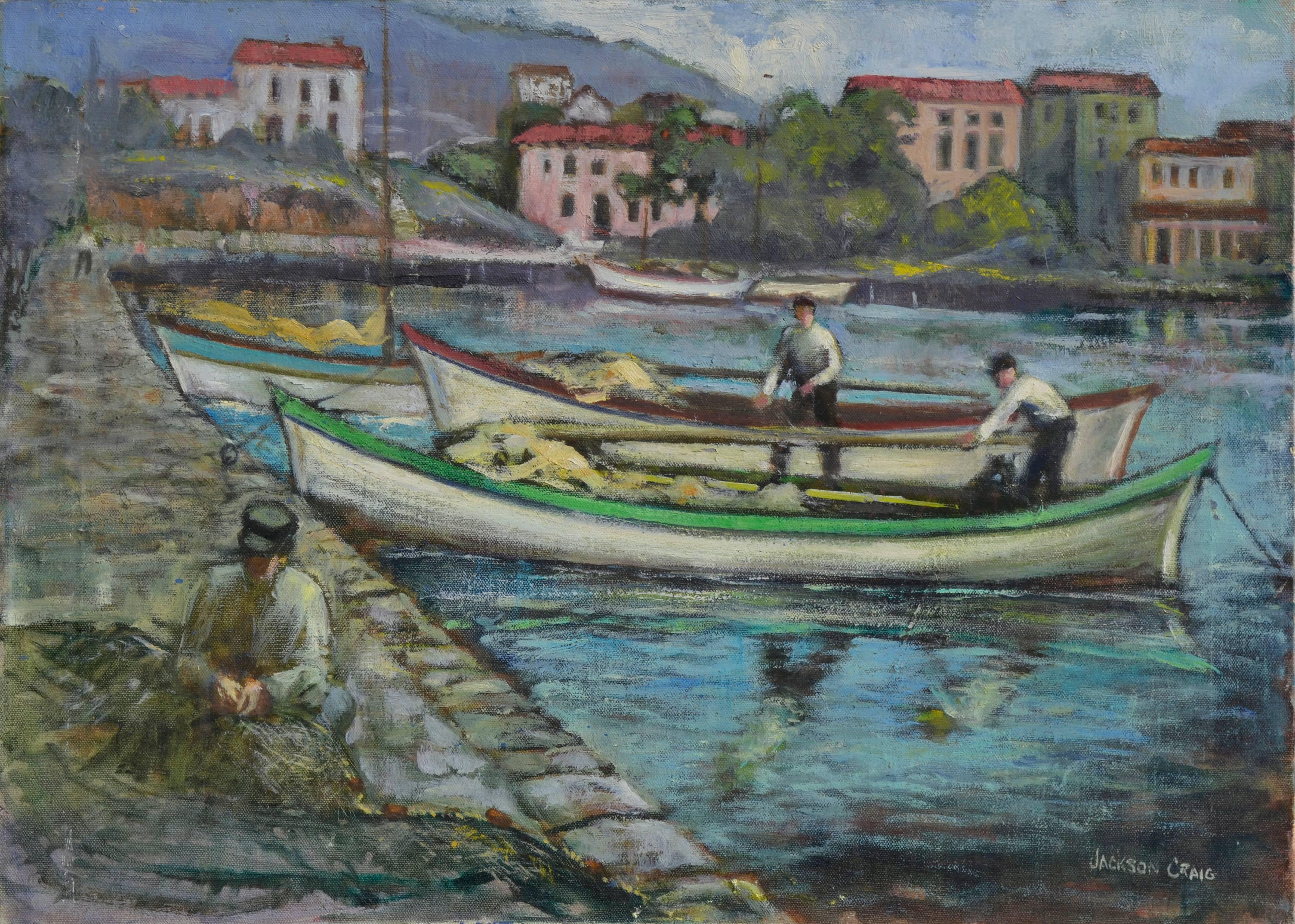 The Day's Catch Portofino, Italy - Figurative Landscape