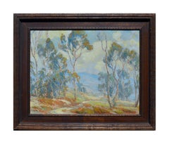 Eucalyptus and Poppies Landscape