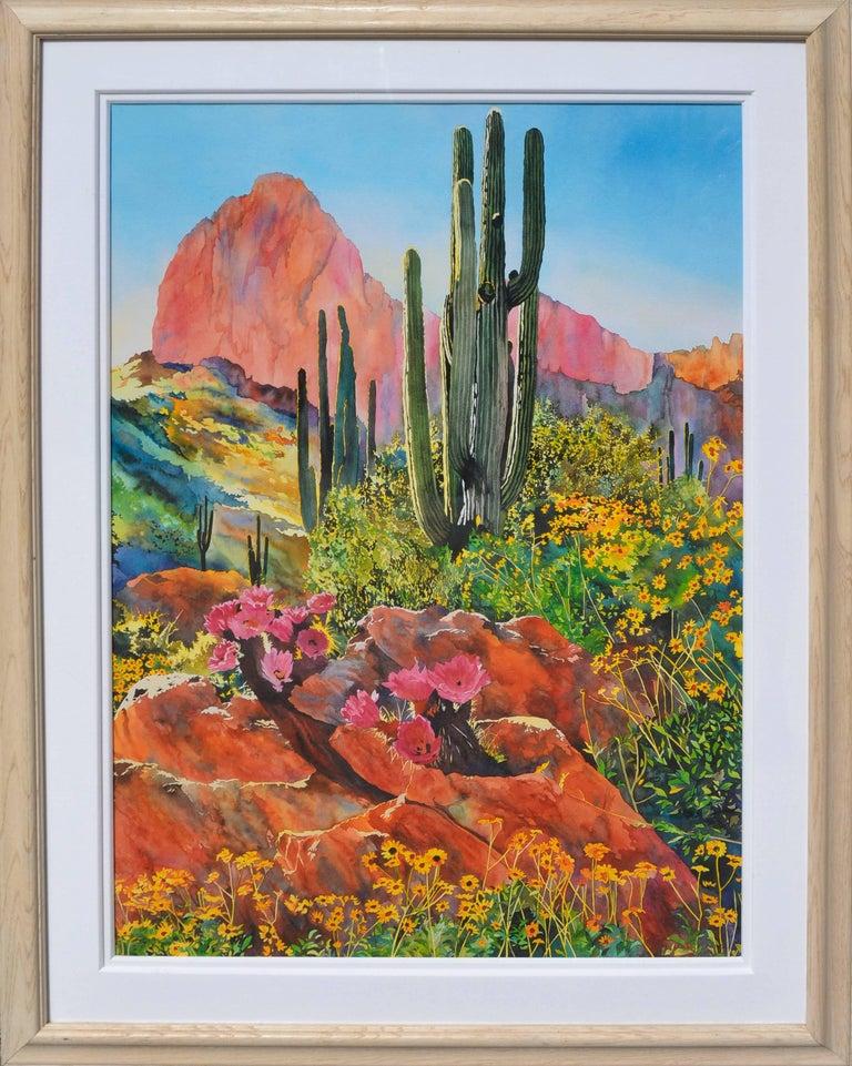 Laurie Bender Landscape Print - Desert Spring Landscape
