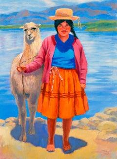 Girl with Llama