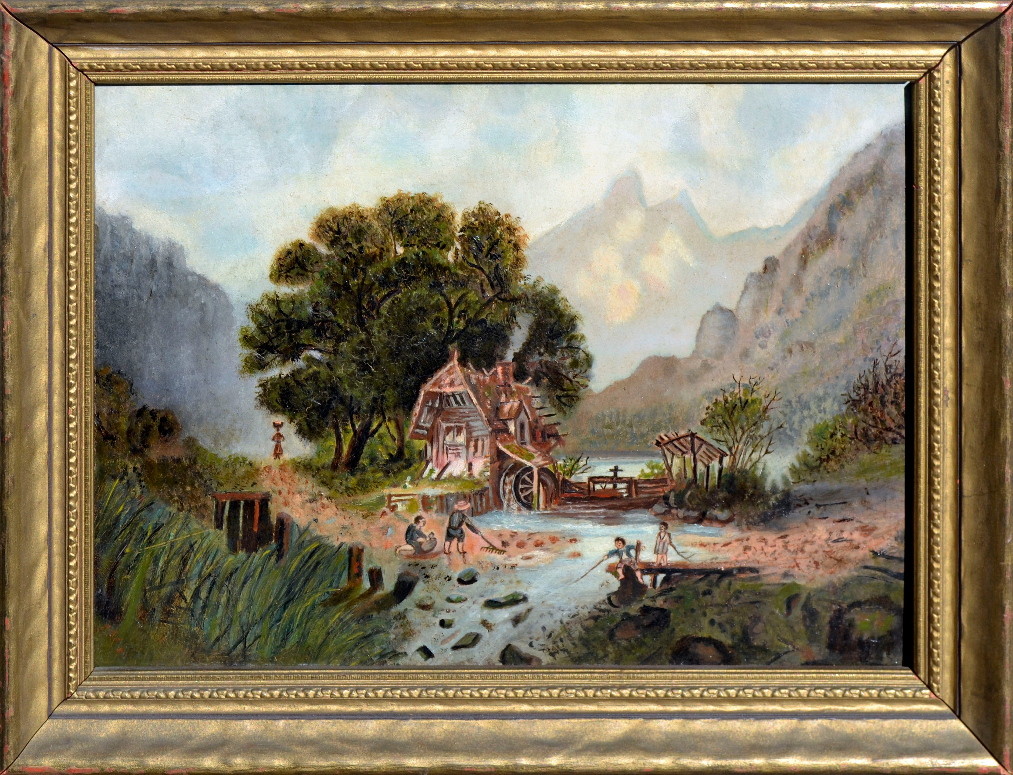 19th Century Gold Country Rustic Family Scene
