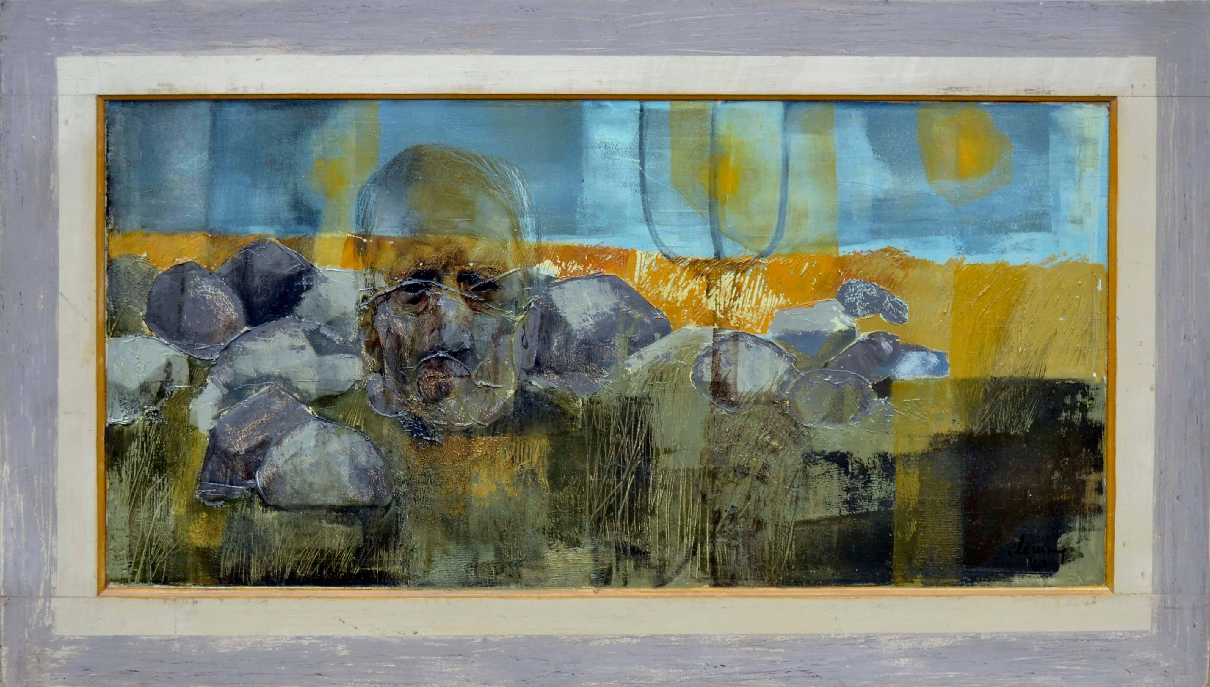 Homage to Asa, American Gothic Figurative Abstract