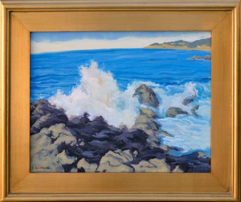 """Steven Guy Bilodeau Landscape Painting - """"Crashing Surf"""" - Pacific Coast Seascape"""