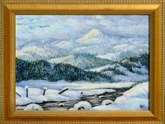 Meadows Valley Idaho, Mid Century Winter Landscape