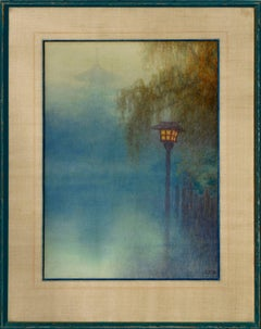 Lantern at Pond by Y. Ito