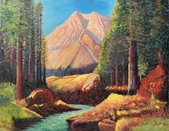 Mid Century Nature's Splendor Landscape