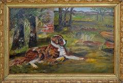 St. Bernard on the Lawn