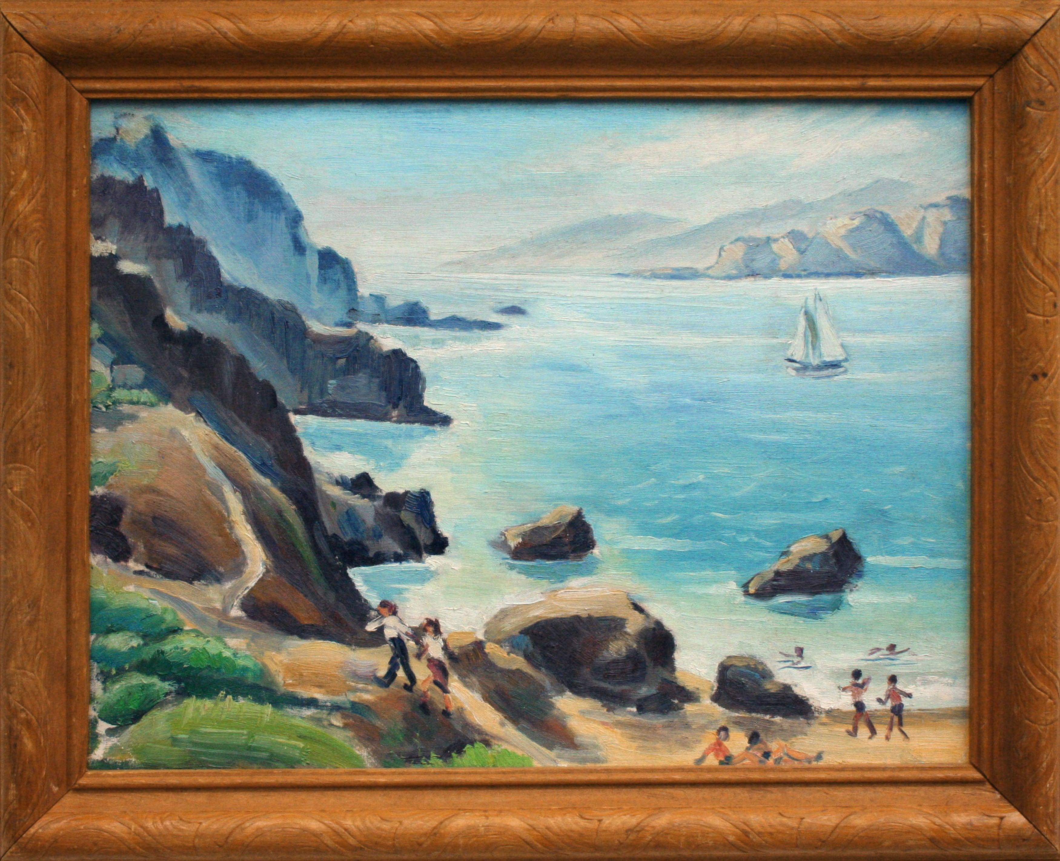 Mid Century Beach Day San Francisco Bay