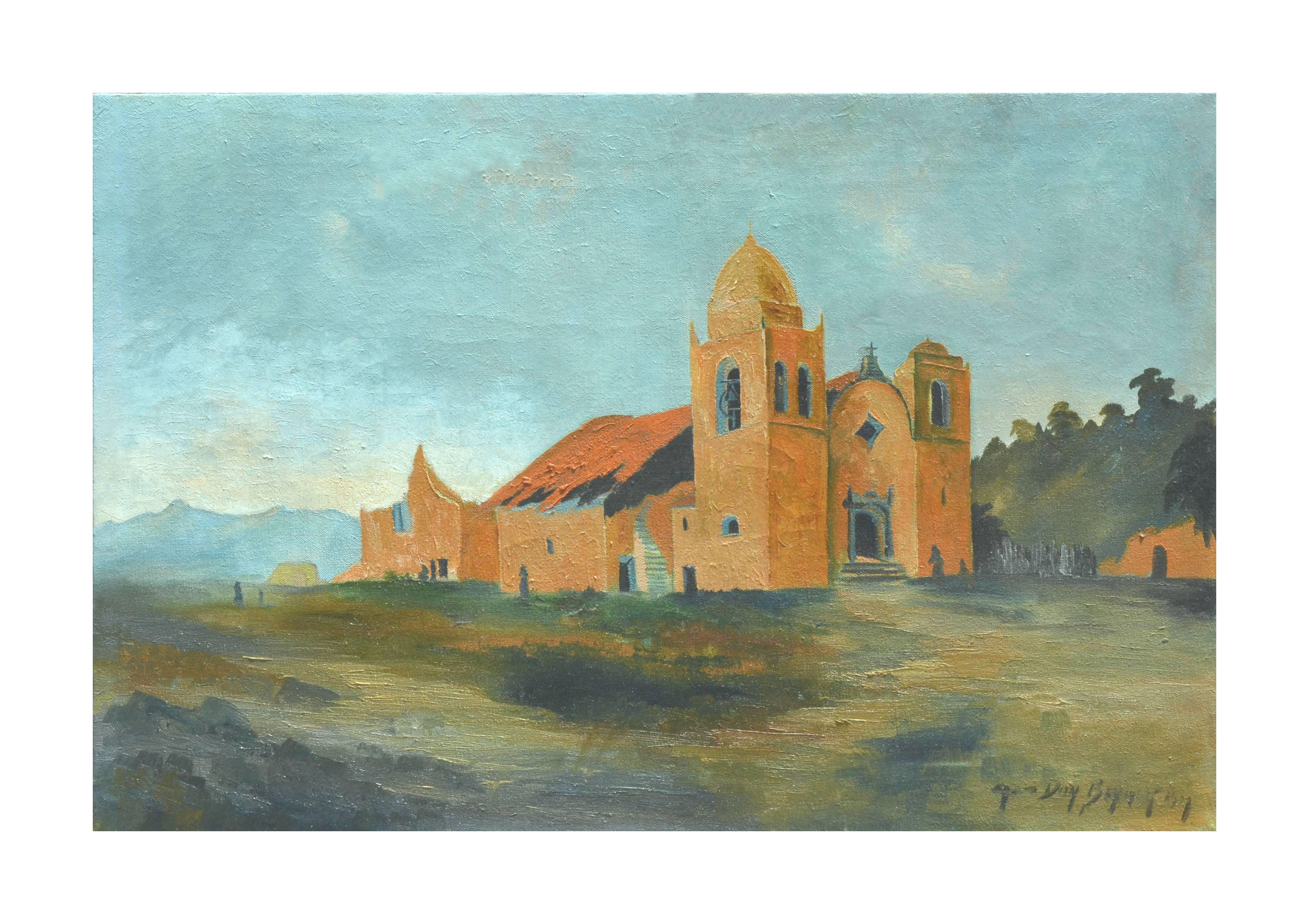 Early 20th Century Carmel Mission Landscape