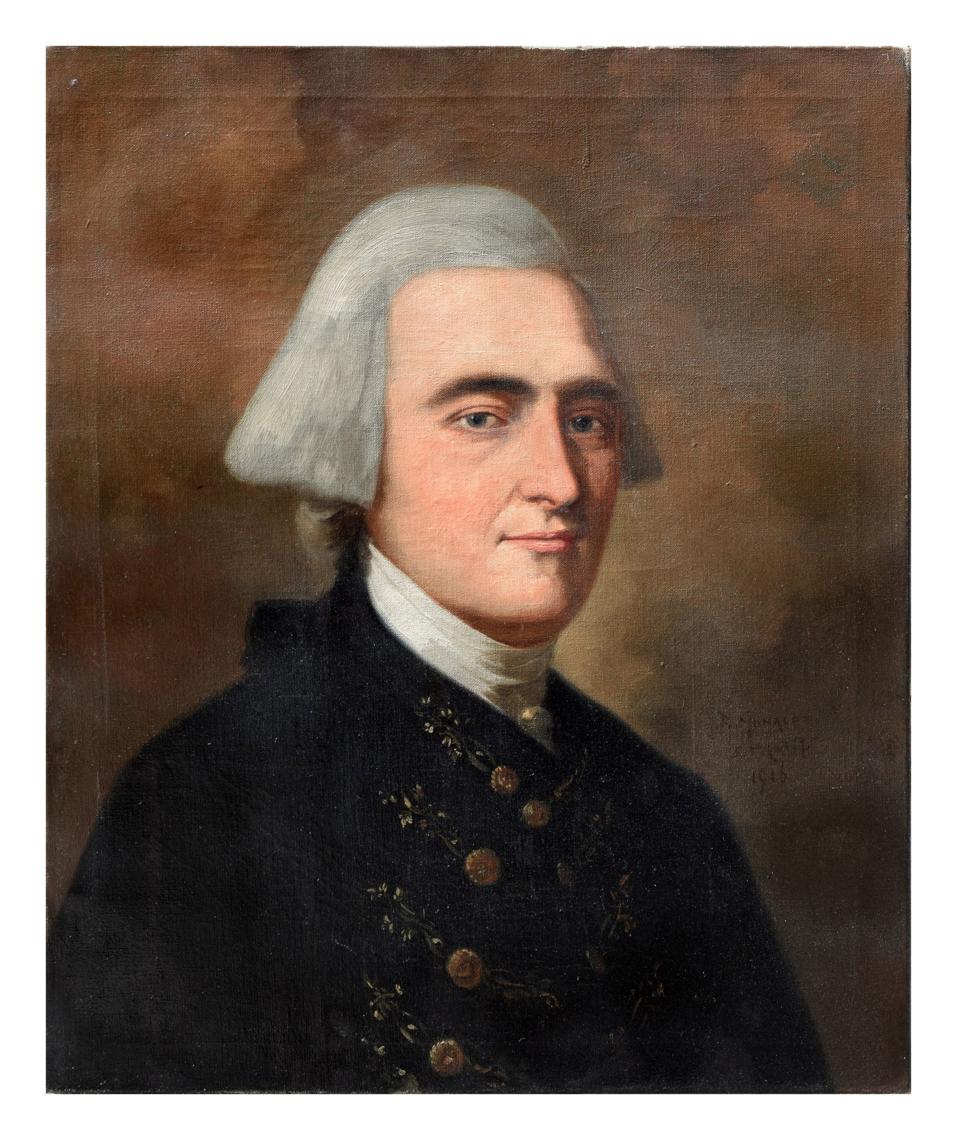 Study of John Singleton Copley's painting of John Hancock