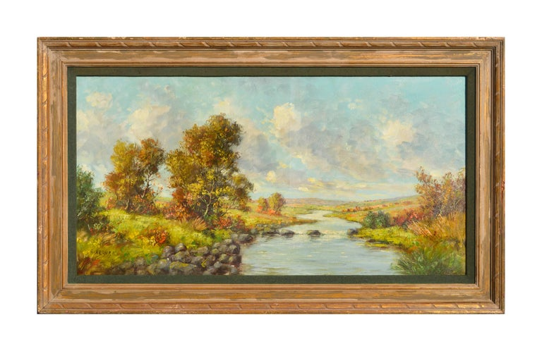 Hans Kerner Landscape Painting - California Creek on a Lazy Autumn Day