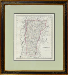 Antique Map of Vermont