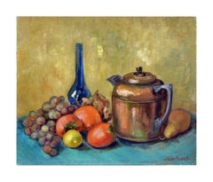 Teapot, Vase and Fruit