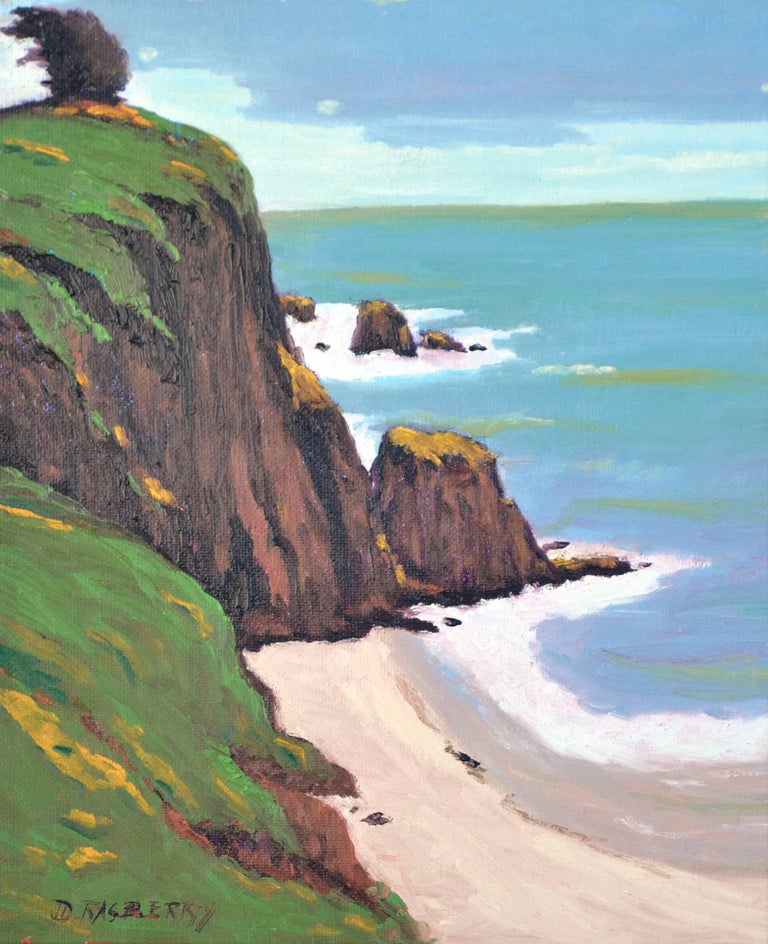 Jesse Don Rasberry  Landscape Painting - Coastal Bluffs by Jesse Don Rasberry