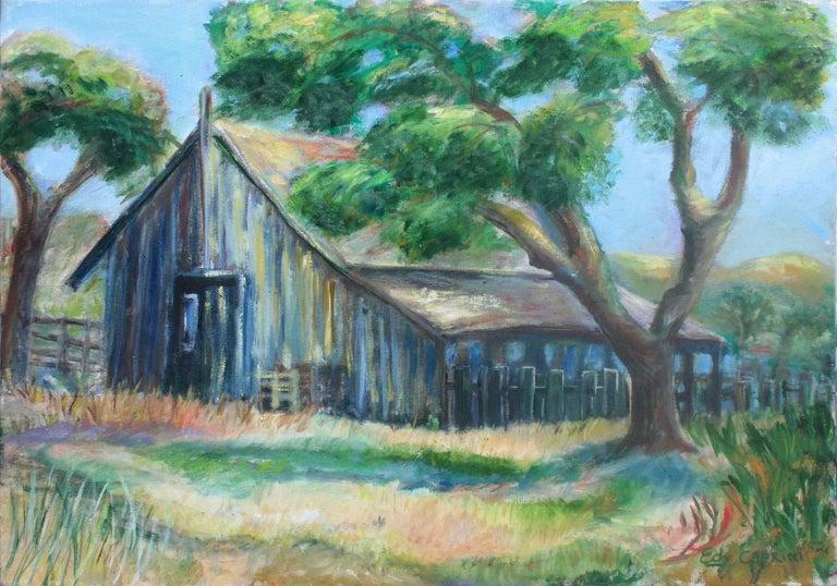 Irma Edy Caprini  Landscape Painting - Old Barn Landscape