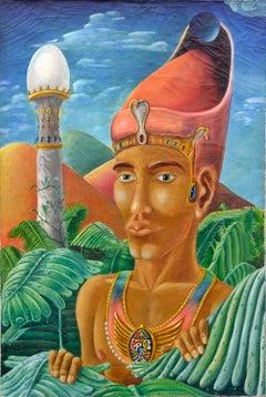 King Akhenaten and the Pharos of Alexandria Concept Tower
