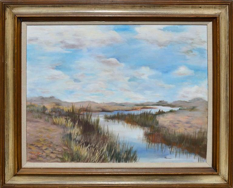 Mildred Vejtasa Fenner  Landscape Painting - Coastal Slough