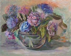 Hydrangeas, Colorful Floral Still Life