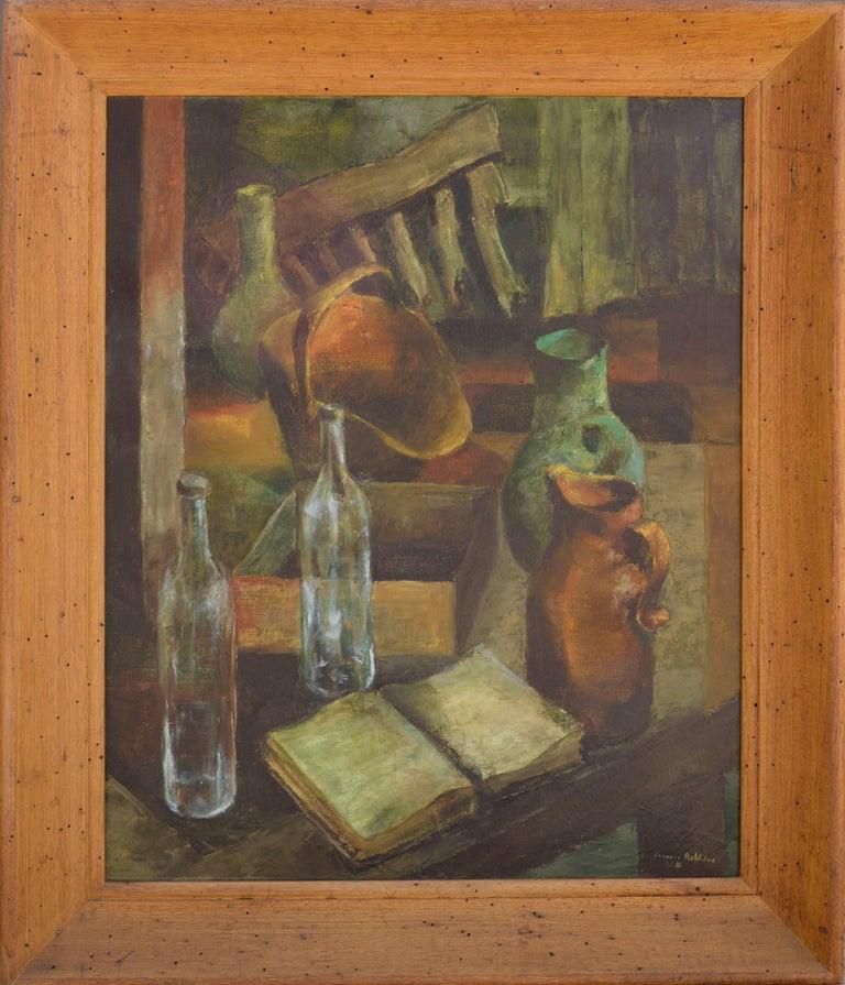 Frances Robbins Interior Painting - Mid Century Kitchen Still Life