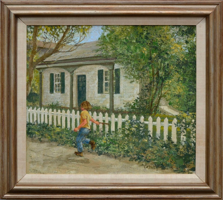 Helen Rayburn Caswell Figurative Painting - Saturday Afternoon