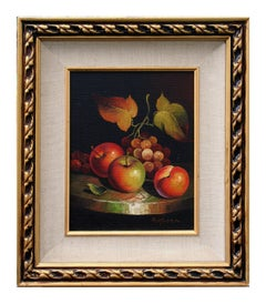 Autumnal Grapevine and Apple Still Life