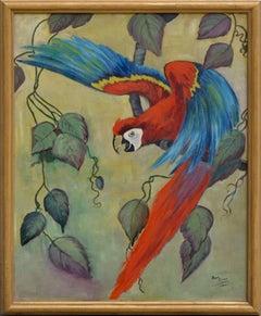 Scarlet Macaw Takes Flight