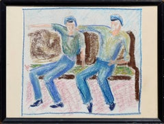 Sailors on a Bench by Clark Blocher