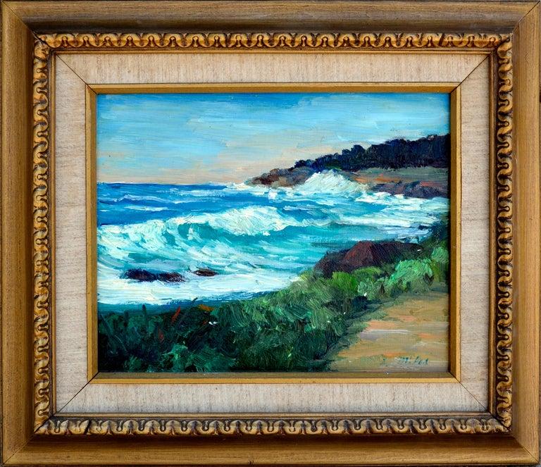 Shigeko Miles Landscape Painting - Point Lobos Coast