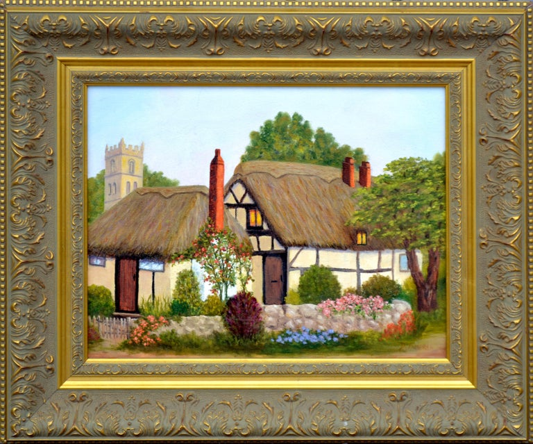 Doreen Amaral Landscape Painting - Countryside Cottage