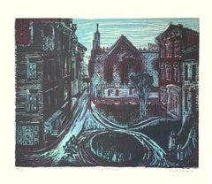 Nightrise Woodcut, 1939