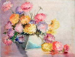 Deco Vase and Chrysanthemums