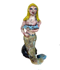 Mermaid with Blue Fish