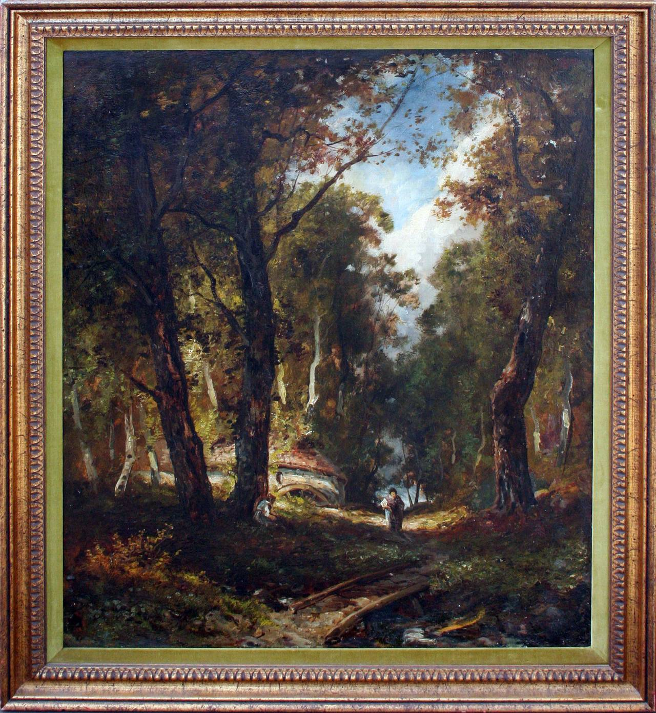 Unknown Landscape Painting -   Barbizon Foret de Chantilly: after Narcissus Diaz de la Pena