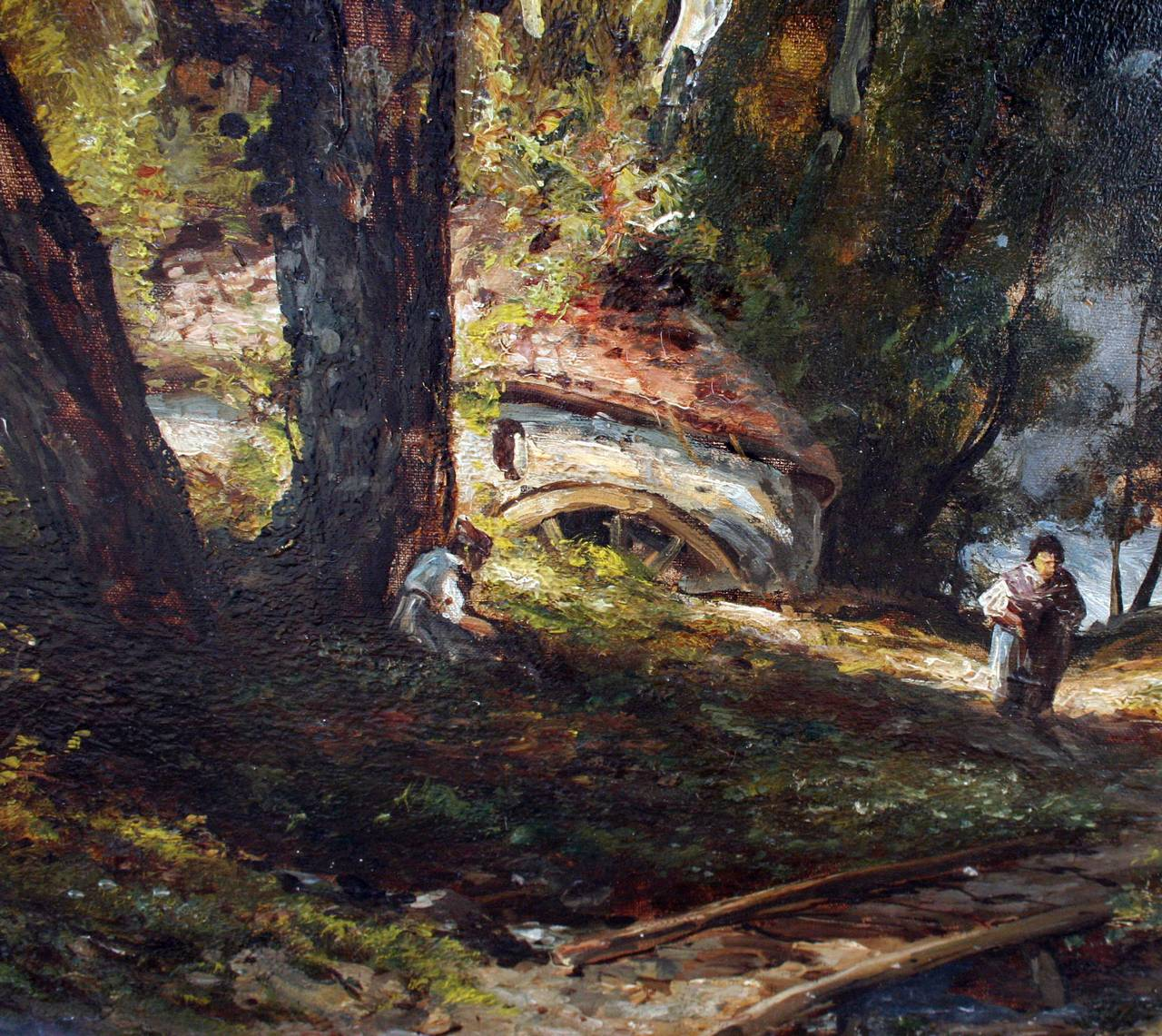 Barbizon Foret de Chantilly: after Narcissus Diaz de la Pena   - Barbizon School Painting by Unknown