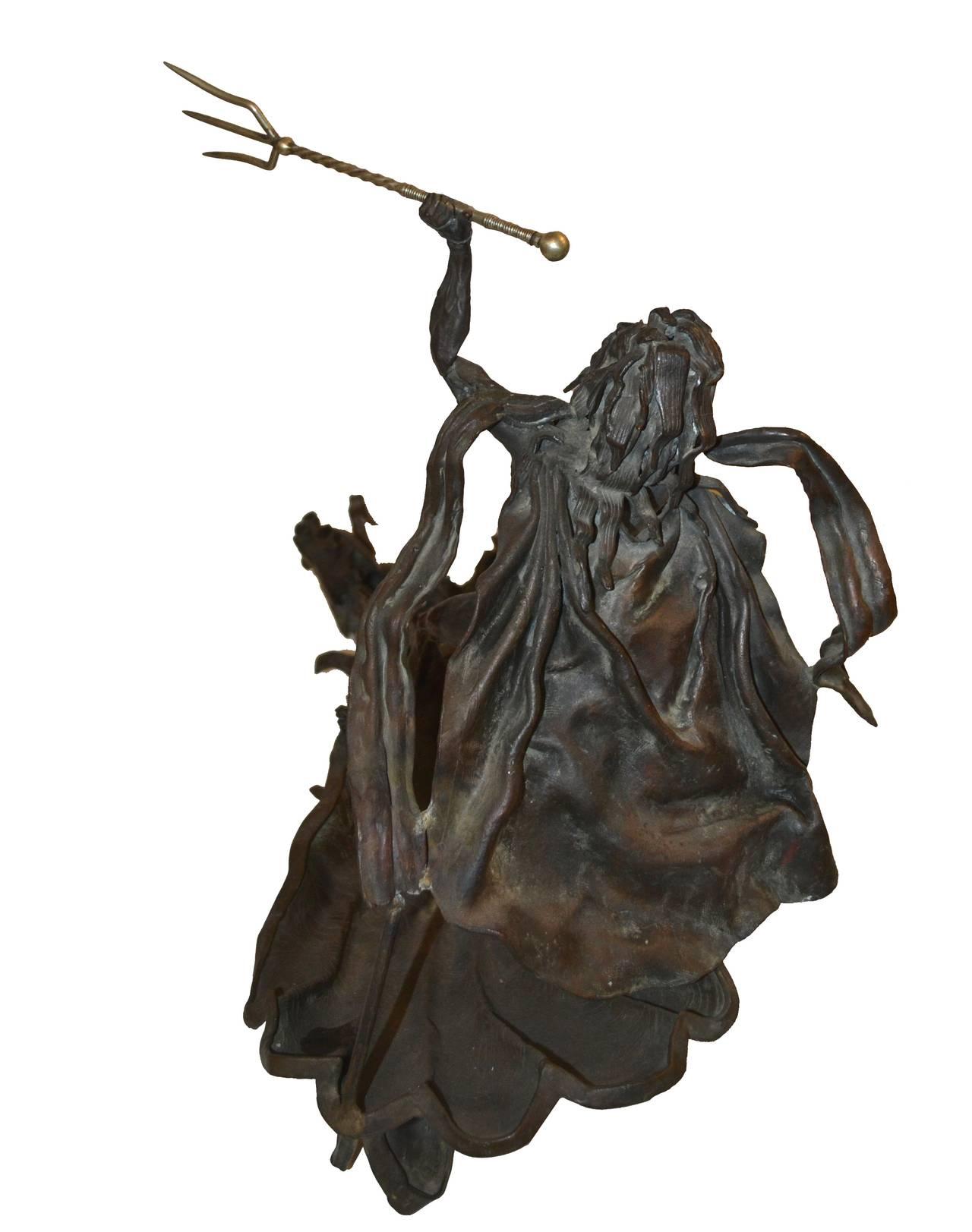 Mid Century Bronze Sculpture -- Poseidon's Fury  For Sale 2