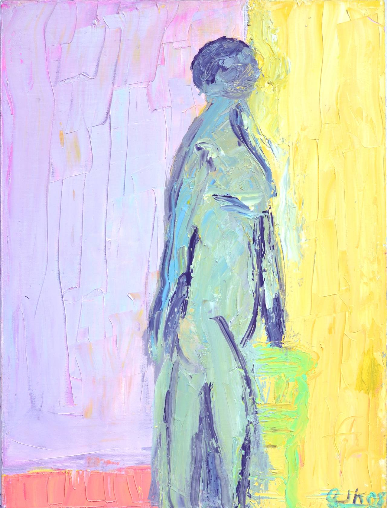 Waiting For Her Lover Bay Area Figurative Movement - Painting by Arthur Krakower