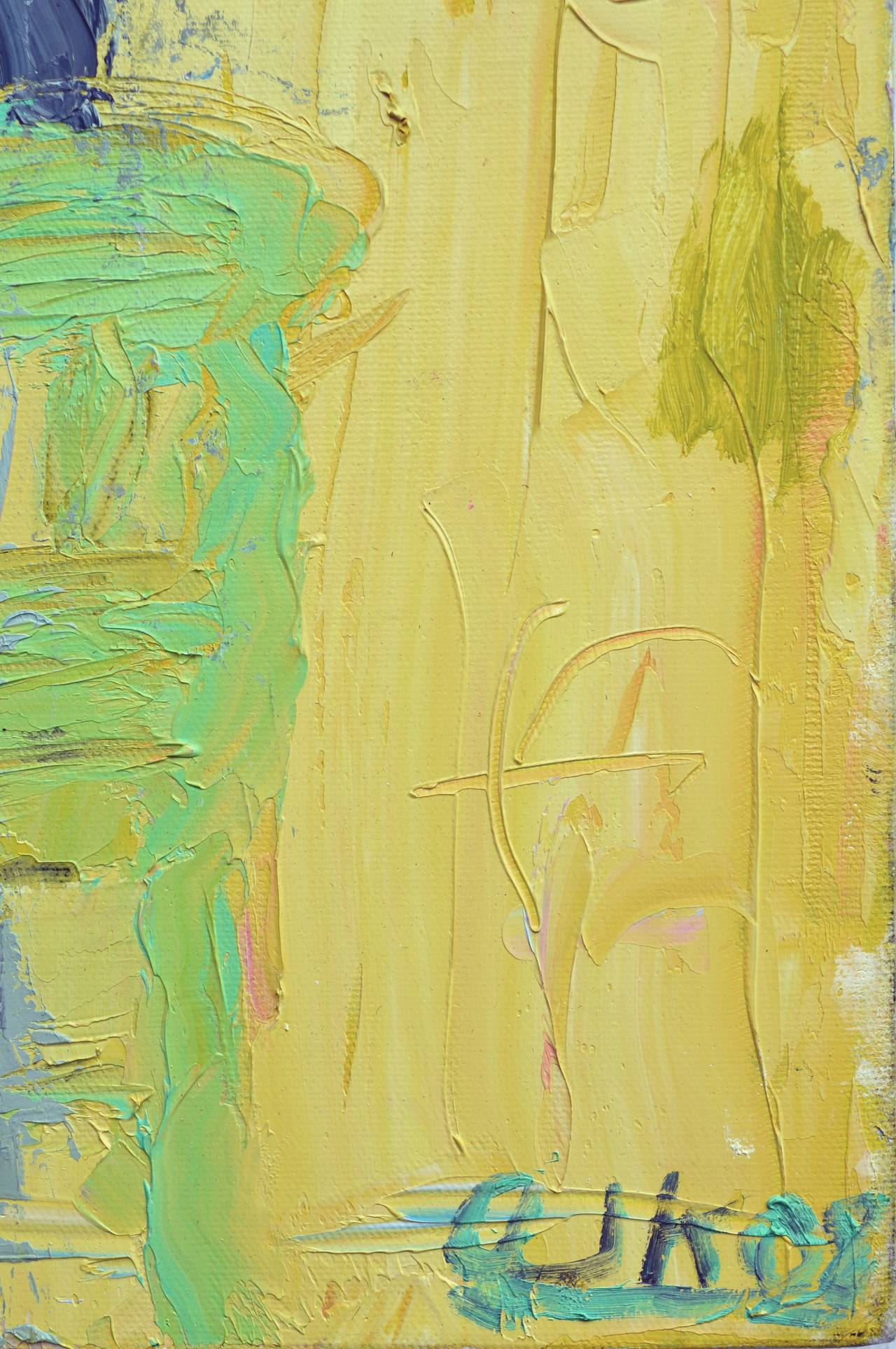 Waiting For Her Lover Bay Area Figurative Movement - Color-Field Painting by Arthur Krakower