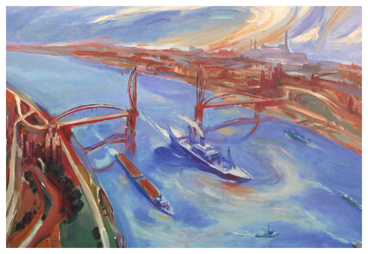 David Fleming Drawbridge Oakland California Painting