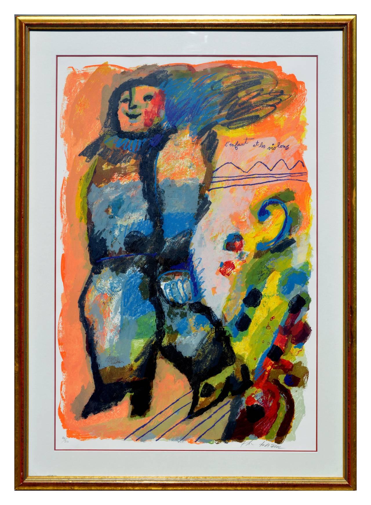 L'enfant et les Violons - Fauvist Abstracted Figurative
