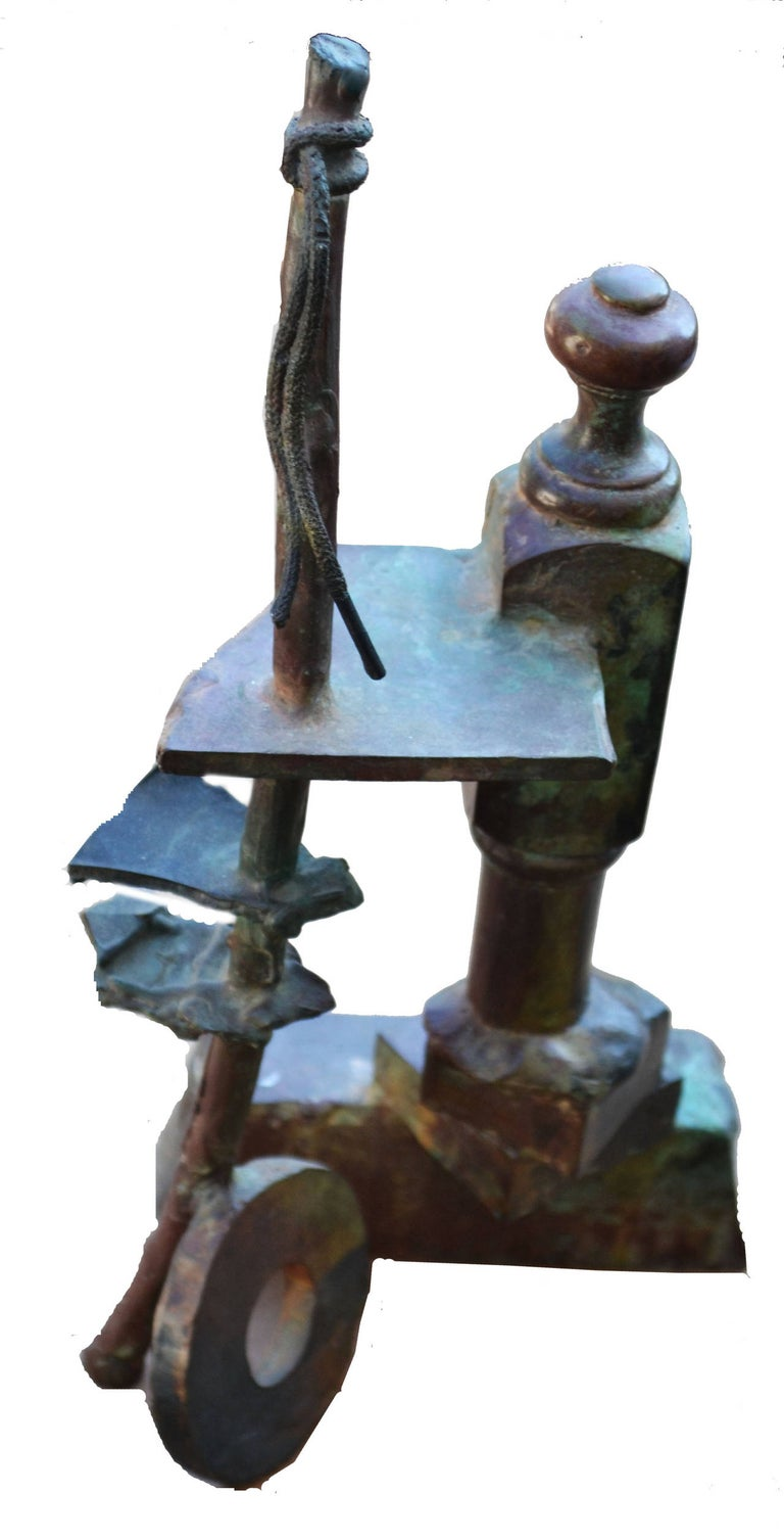 D Phelps Abstract Sculpture - Mid Century Bronze Assemblage