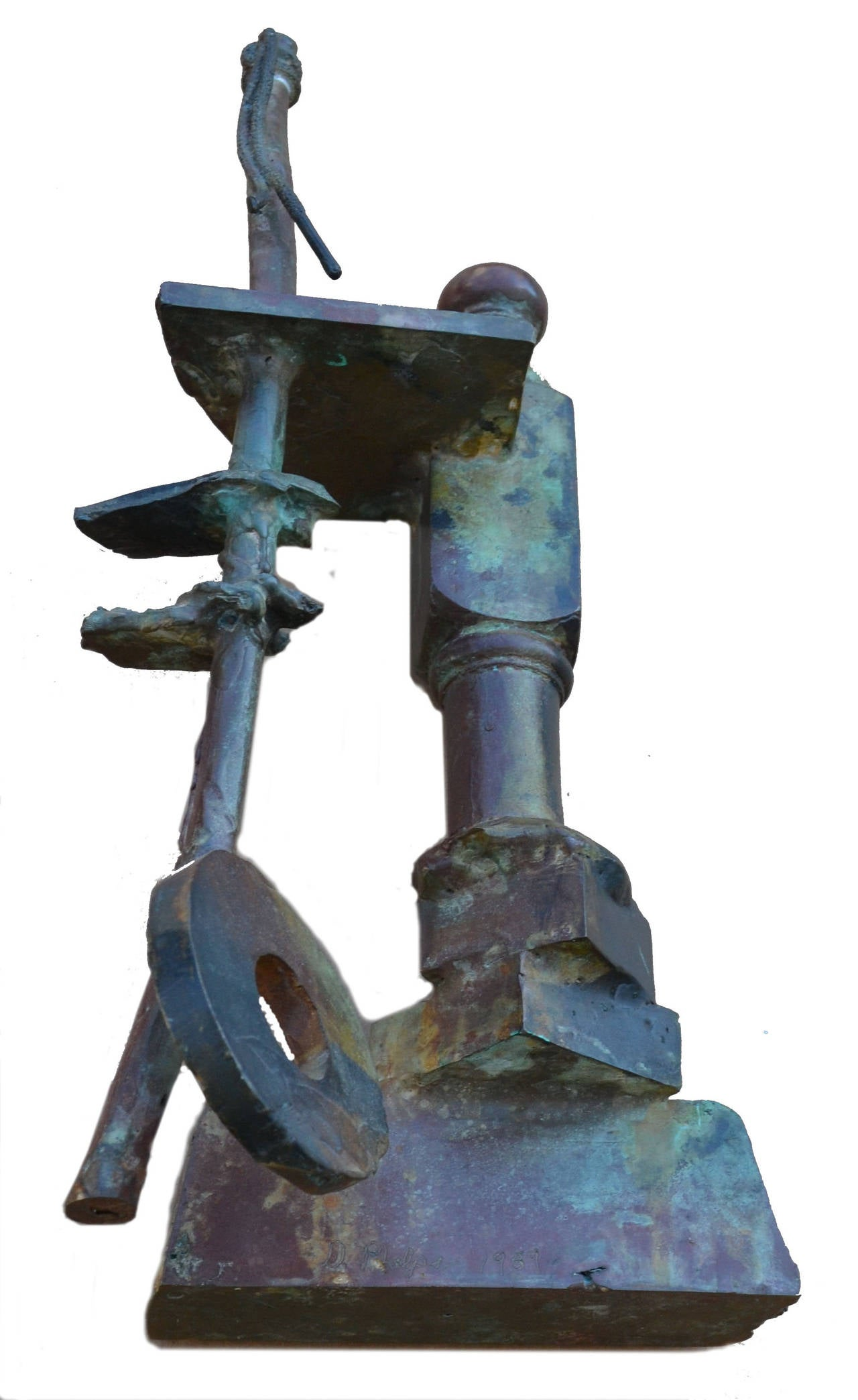 Mid Century Bronze Assemblage - Abstract Sculpture by D Phelps