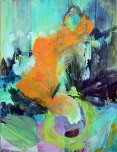 Orange Figural Abstract