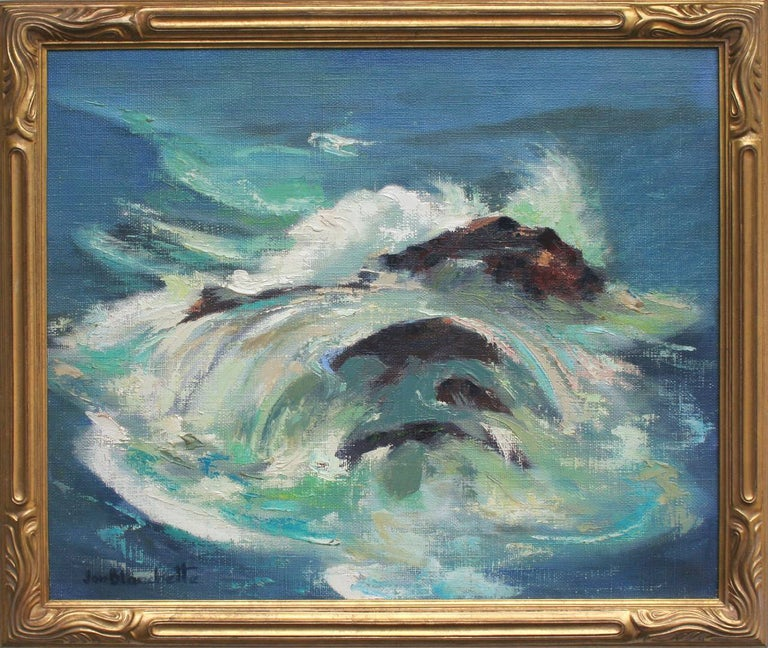 Jon Blanchette Landscape Painting - Ocean Wave Abstracted Seascape